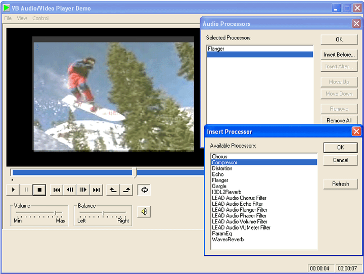 Multimedia Playback: Playback multimedia files processing both video and audio during playback if required.