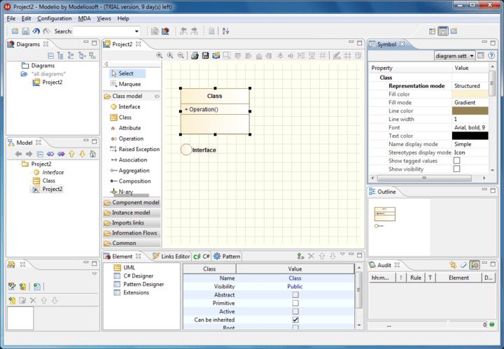 Screenshot of Modeliosoft C++ Solution