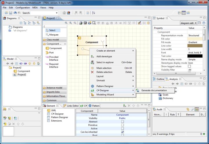 Screenshot of Modeliosoft C# Solution