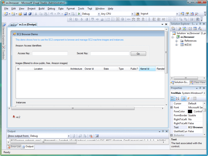 EC2 Component: The EC2 Component provides an easy interface to Amazon's EC2 Web Services.