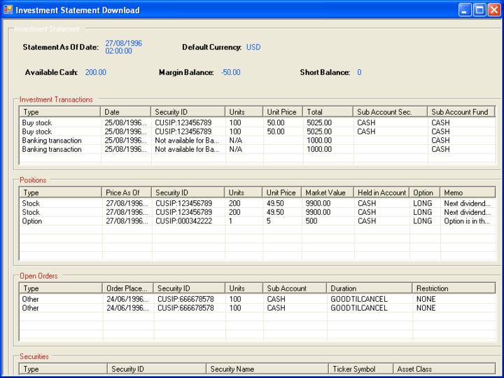 Screenshot of E-Banking Integrator C++ Edition