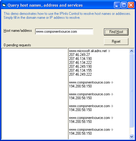 IPInfo: Use the IPInfo component to obtain DNS information.