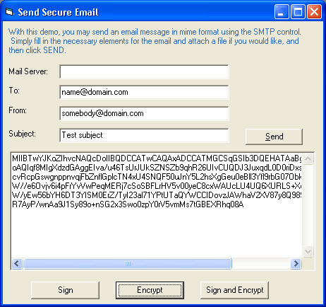 Secure Email: Use the SSMTP object to send encrypted and/or signed emails
