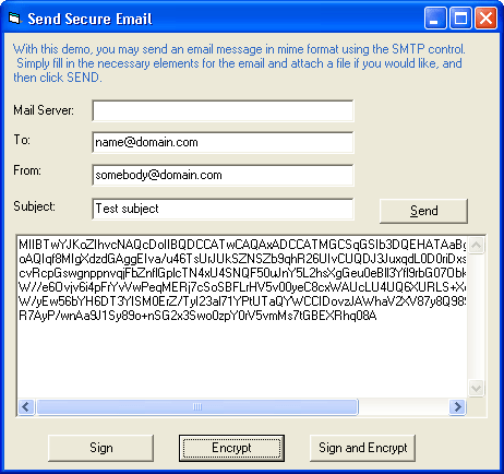 Screenshot of IP*Works! S/MIME PHP Edition