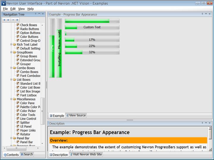 Nevron User Interface Suite