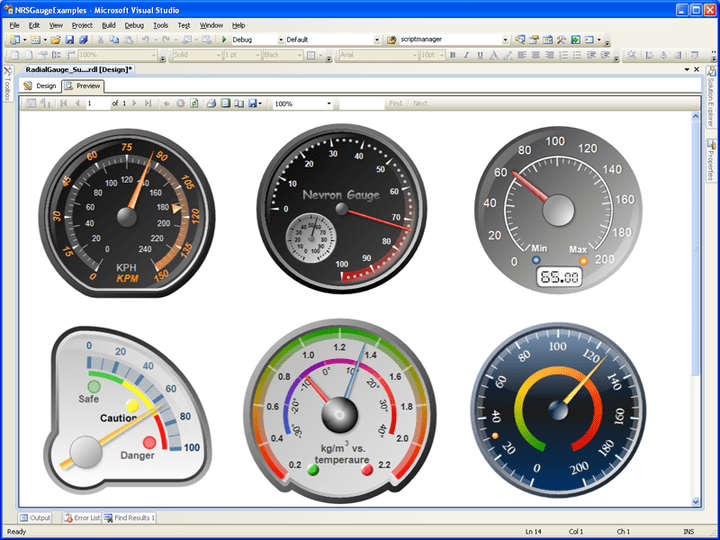 Gauge Types for SSRS