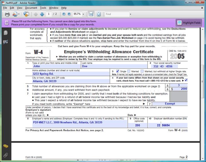 PDF Forms : Fill PDF forms (Acroforms).