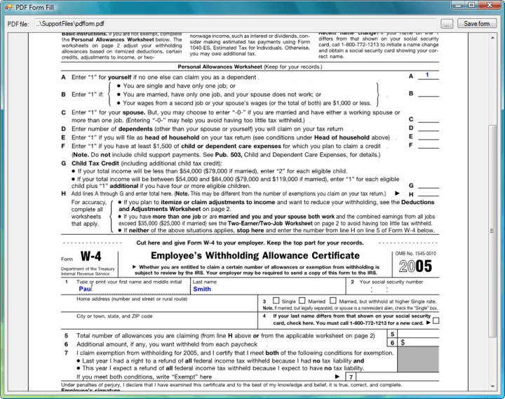 Form Filling: Fill and save PDF forms.