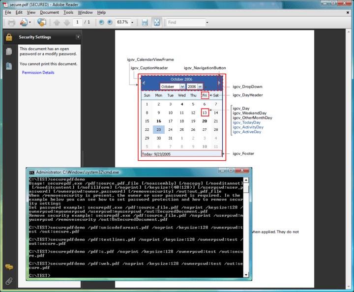 Screenshot of ExpertPDF Pdf Security