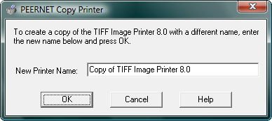 Copy Printer: You can multiple instances of the TIFF Image Printer on the same machine.