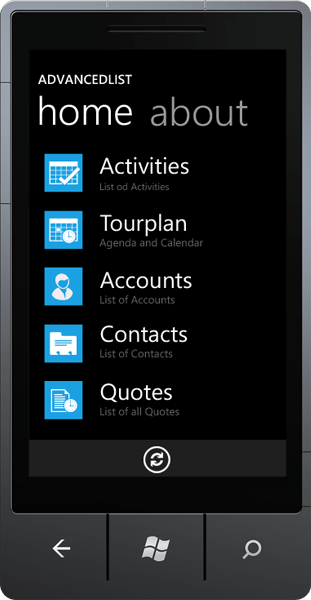 Windows Phone 7 Apps: The Windows Phone 7 app was built with help of Resco MobileLight Toolkit, a set of Silverlight controls for Windows Phone 7.