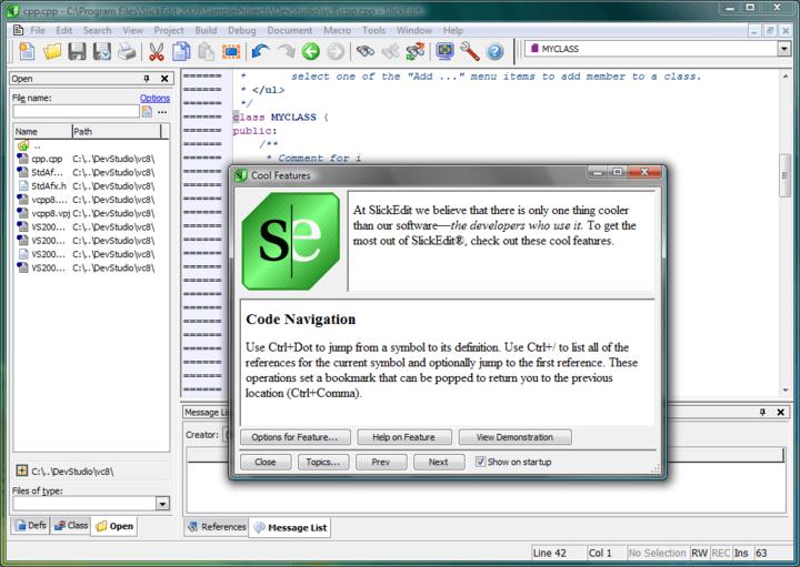 Screenshot of SlickEdit Multi-Platform