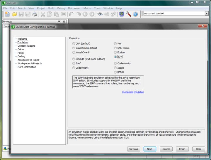 SlickEdit for Windows and Mac OS X 스크린샷