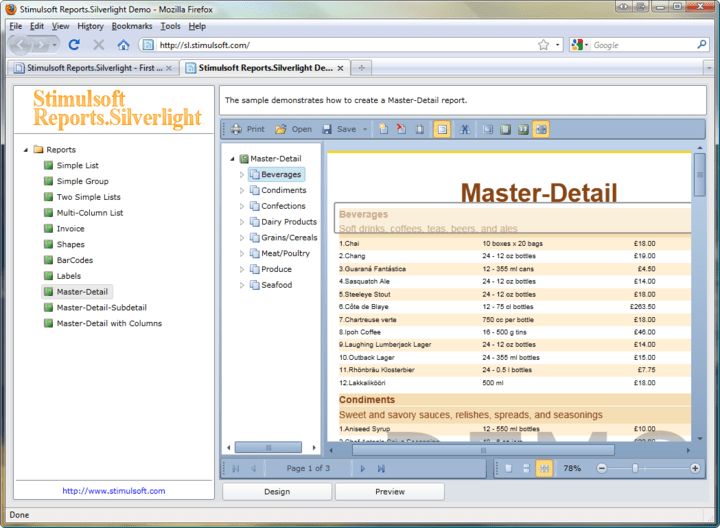 Master-Detail: You can easily create Master-Detail style reports.