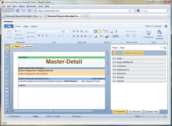 Designer: Easily design reports using the Report Designer.