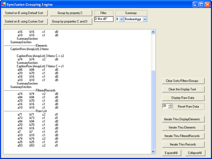 Grouping by Properties: Group data by various selected properties.