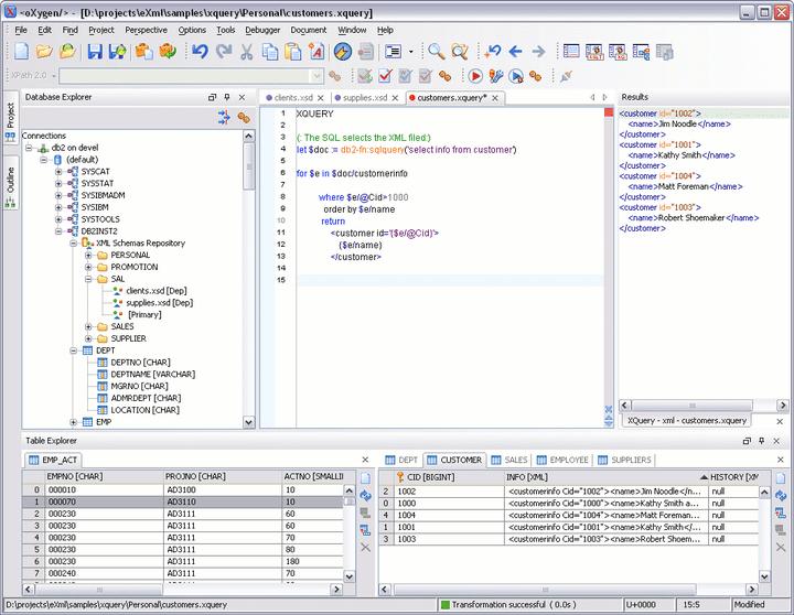 XML Database Perspective