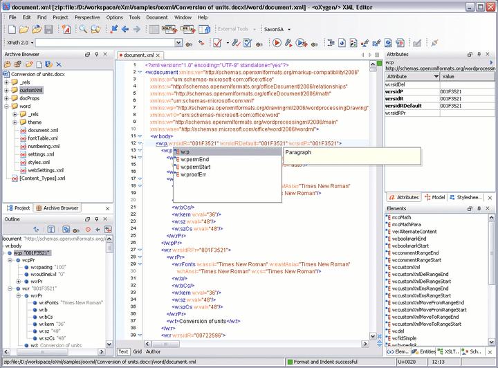 Editing Office Open XML files