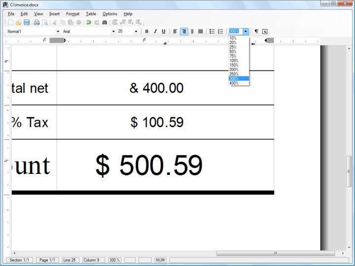 Screenshot of TX Text Control ActiveX Standard