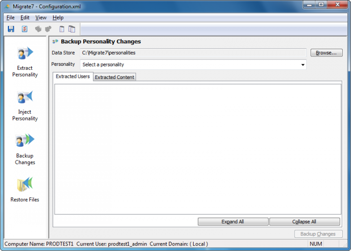 Screenshot of Migrate7
