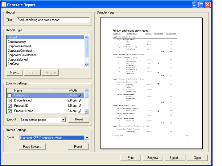 Xceed Grid for .NET Reporting Engine: Xceed Grid for .NET includes a built-in Reporting engine. End-users can generate, modify, and print reports from their Grid-enabled applications. Developers can add this functionality in just minutes. Xceed Grid for .NET is part of the Xceed ultimate Suite.